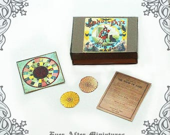 HAND of FATE Miniature Game #3 – 1:12 Vintage Halloween Miniature Witch Gypsy Magic Game - Printable Witch Dollhouse Miniature Game DOWNLOAD