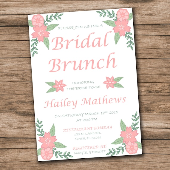 Bridal Shower Invitation Template Download Instantly