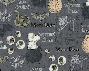 Timeless Treasures Wicked Witches' Brew Halloween Premium 100% cotton fabric (TT105)