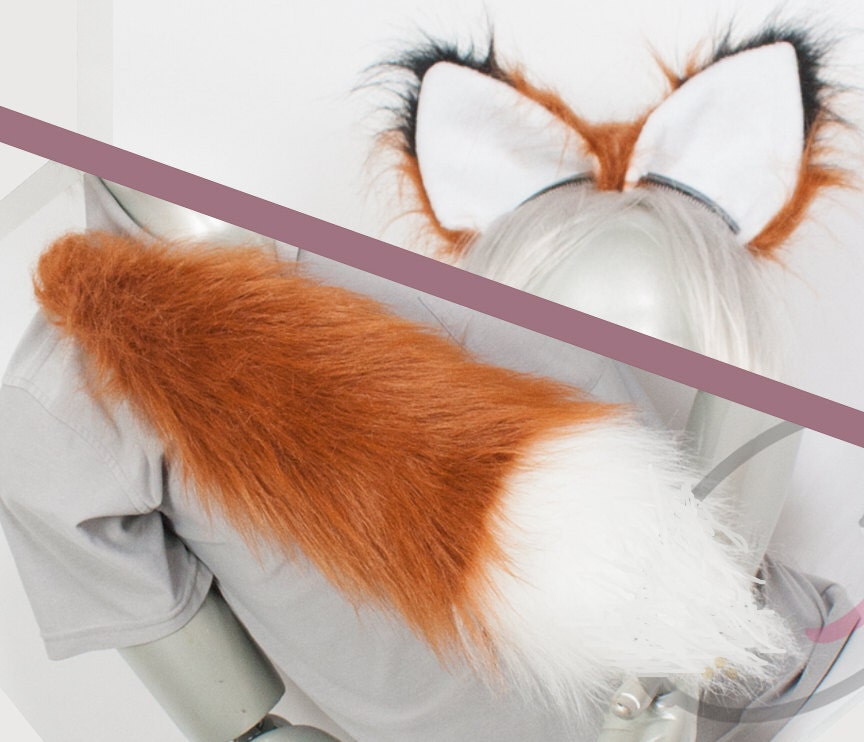 ?zoom & Best Fox Combo Tail and Ears Rust Cosplay Accessories