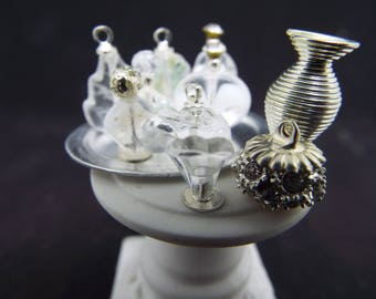 """1/12 Scale Perfume Tray """"Clearly Besotted"""" - Dollhouse"""