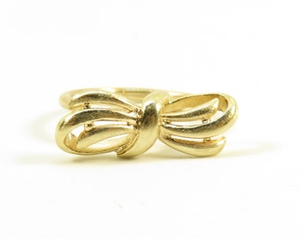 Antique 9ct Gold Bow Ring - Stacking Ring