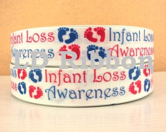 "7/8"" Infant Loss Awareness Grosgrain Ribbon"