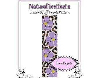 Bead Pattern Peyote(Bracelet Cuff)-Natural Instinct 2