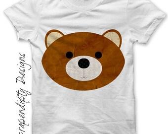 Bear Iron on Transfer - Iron on Animal Shirt PDF / Infant Baby Clothes / Birthday Printable / Bear Shirt Design / Kids Clothing Top Tee IT16
