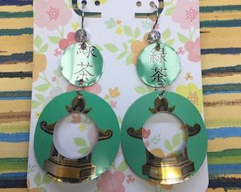 Asian Flair Dangle Drop Earrings