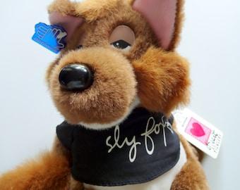 Vintage Applause Sly Fox Stuffed Animal 1980s