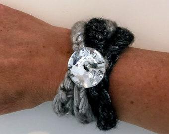 Metallic Knit Cord Bracelet