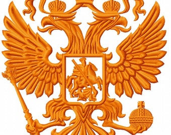 Coat of arms Russia- Machine Embroidery design