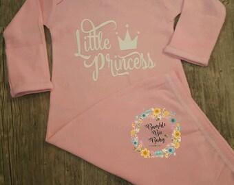 Newborn,  Little Princess Onesie, Baby Bodysuit, Gown or Tshirt