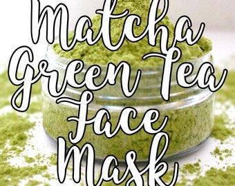 Matcha Face Mask; Green Tea Face Mask