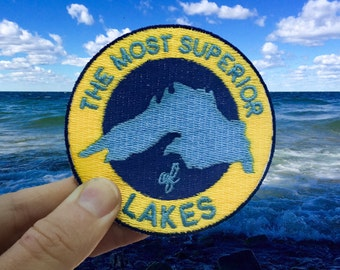 """Most Superior of Lakes Patch, 3"""" Iron-On Patch"""