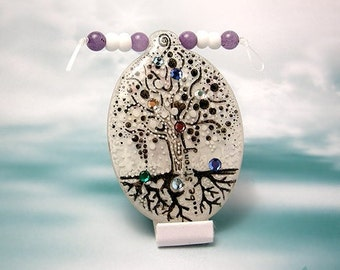 RESERVED -- MIRACLE TREE (lovely pendant with crystals) original drawing