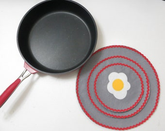 Eggs- Omelet, Set of 3 sizes Pan Protectors
