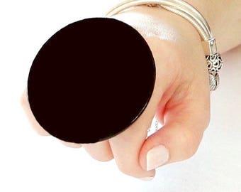 Big Black Ring, Statement Ring, Ceramic Jewelry big ring,  bold ring, ceramic ring, large ring, oversized ring, handmade ring