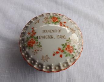 FREE SHIPPING vintage dresser jar souvenir Lewiston Idaho