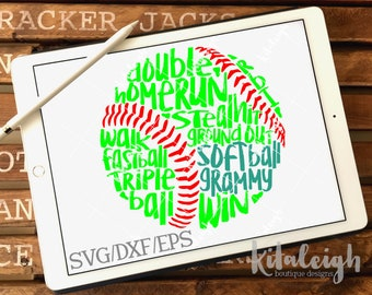 Messy Softball Grammy INSTANT DOWNLOAD in dxf, svg, eps for use with programs such as Silhouette Studio and Cricut Design Space