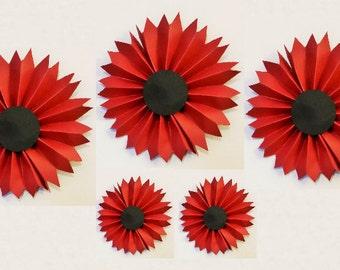 Duel Colored Rosettes | Macabre Paper Fans | Pinwheels