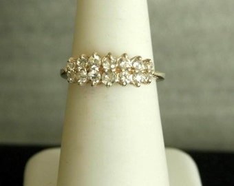 Delicate Cubic Zirconia .925 Sterling Silver Ring  s. 6.25