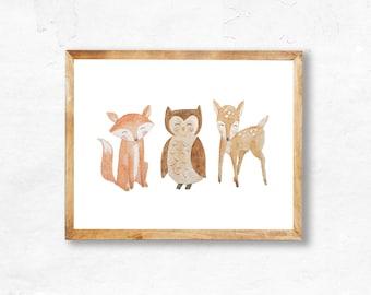Woodland Animals printable (INSTANT DOWNLOAD)