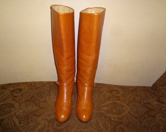 Brown Leather Riding Boots 10M