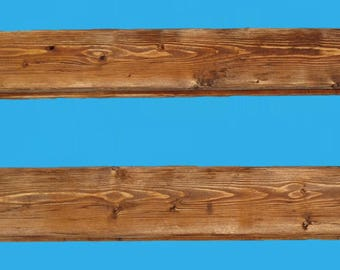 "24 inch reclaimed wood floating shelf , 24"" long-recycled frame wood , stained distressed #506-184colpine"