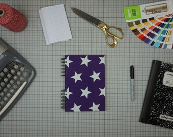 Stars Purple Sketchbook A5 portrait