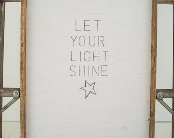 the GRACE sign: Let your Light SHINE