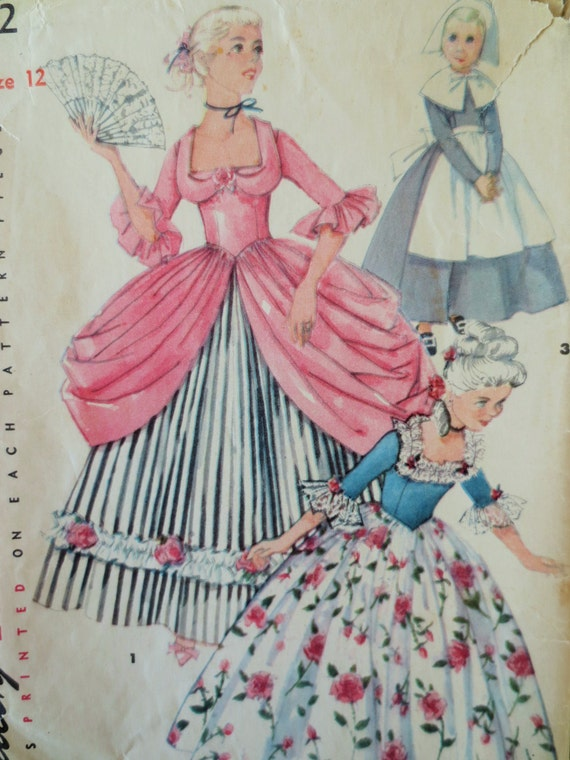 Items similar to Vintage Simplicity 4862 Sewing Pattern, Colonial ...