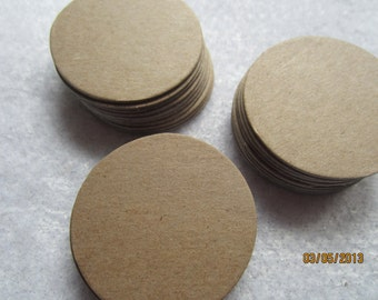 100-1- 1/2 Inch Chipboard Circle Die Cuts-Circles Blanks-Unfinished-Decoration-Raw Chipboard Circles-Ornaments-Blank Surface-Game Pieces