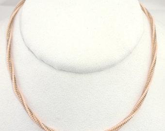 Beadwoven Herringbone Rope Necklace - N011BFL