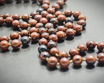 Maroon Burgundy Dark Red Genuine Jasper Stone Beaded Statement Long Necklace Bracelet Set Natural Gemstone Jewelry Set Mothers Day Gift