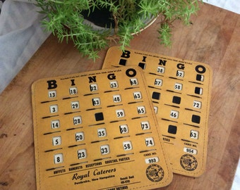 Vintage Bingo Cards