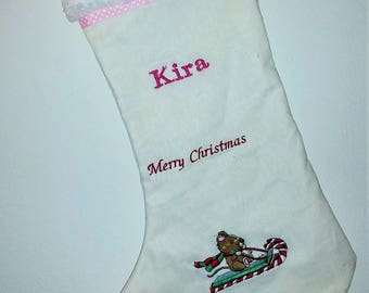 Personalized holiday stocking
