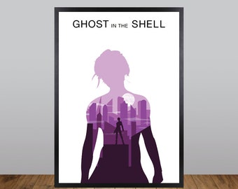Ghost in the Shell Print, Minimalist Movie Poster Unofficial Fan Art