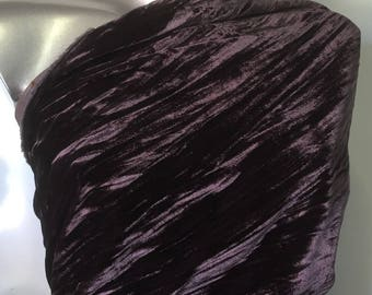 Velvet silk marbled hot has silk Lyon, Made in France V1