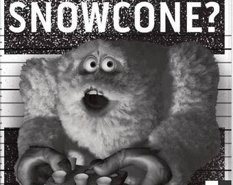 """Monsters Inc Abominable Snowman """"Snowcone?"""" or """"Free Abominable"""" Tee"""