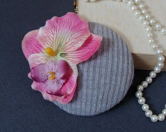 fascinator modest orchid