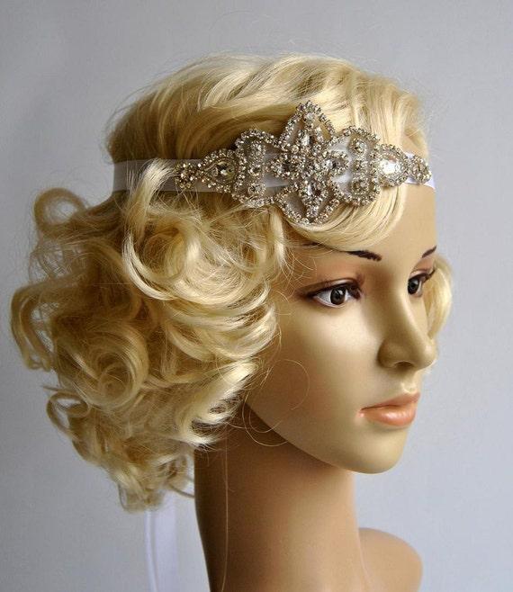 Gatsby Une Décoration De Mariage Inspirée Des Années: Clapet De Strass Bandeau Gatsby Headband Mariage Crystal