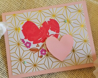 Geometric Heart Notecards