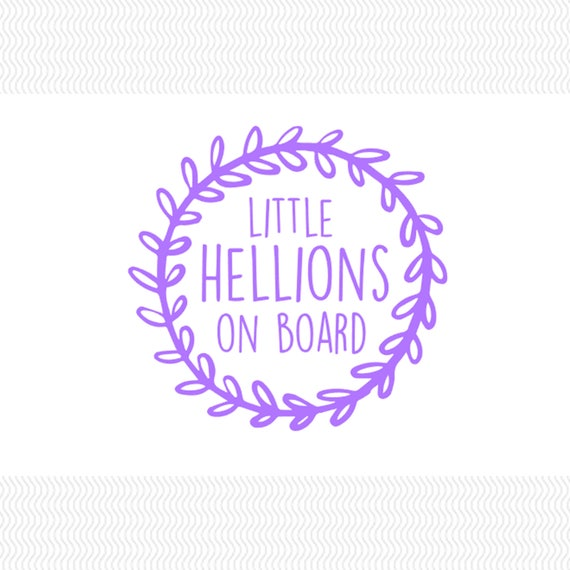 Little Hellions On Board Car Decal Kids Decal Mom Decal