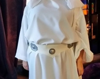 Princess Leia Costume a Gown with Belt Custom Made Star Wars