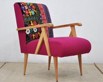 Wooden Armchair -  pink love