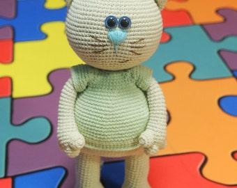 "Pattern ""CAT"", amigurumi crochet cat, crochet pattern, pattern crochet cat, pdf pattern"