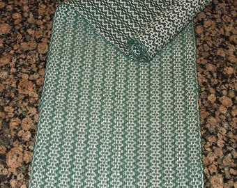 Handwoven Table Runner - Forest Green