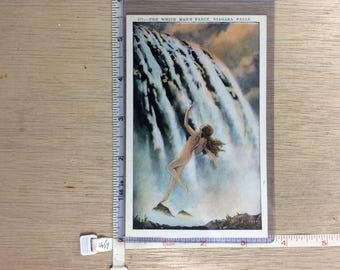 Vintage Old Post Card The White Man's Fancy Niagara Falls No Post Mark Unused
