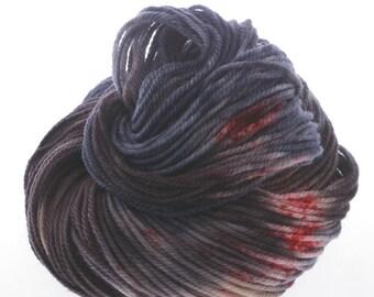 Australis DK,  Hand Dyed Yarn, 8 ply, Yarn, Hand dyed, Superwash Merino, DRACULA