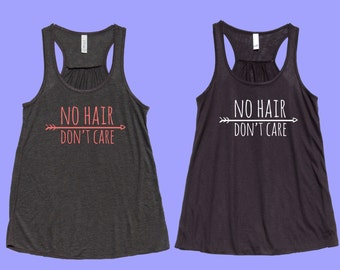 No Hair Don't Care - Fit or Flowy Tank