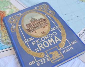 "First photo booklet of the ' 900 ""Souvenir of Rome-Part Two"""