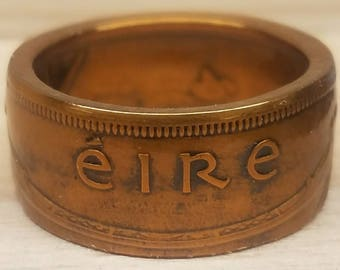 Irish ÉIRE Pingn Coin Ring